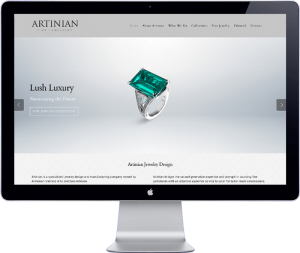 artinian jewelery - website development thailand