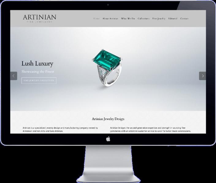 artinian jewelery - website development thailand