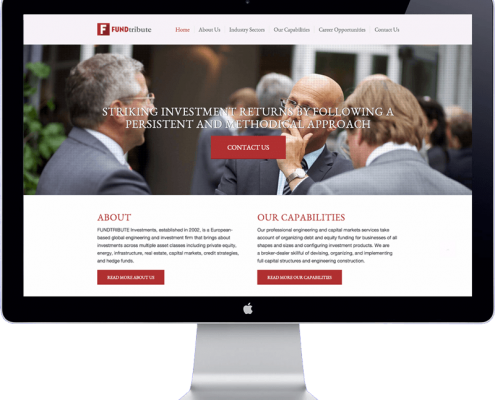 fundtribute - website design and development