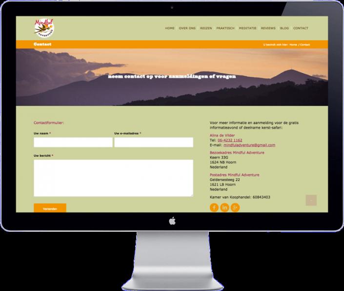 mindful adventure travel agency website - bangkok