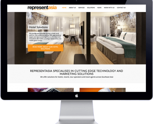 Represent Asia - website design
