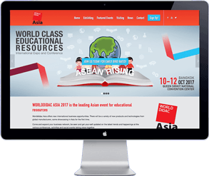 world didac asia 2017 - thailand bangkok - website design