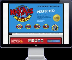 kickass in college website design
