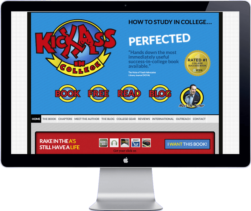 kickass in college website design
