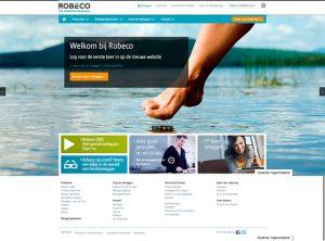 robeco webiste homepage design