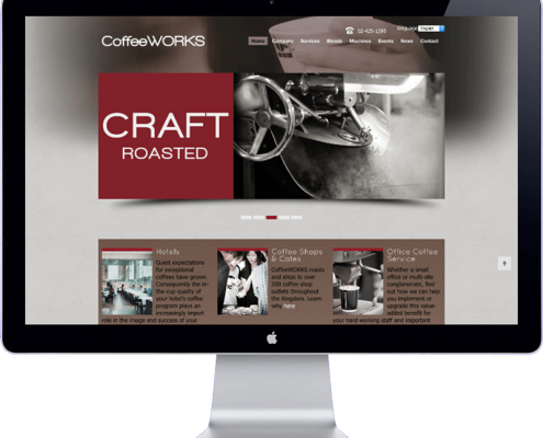 coffeeworks thailand - website design