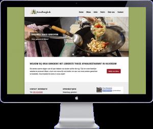 krua bangkok - website design