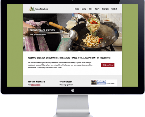 krua bangkok - website design