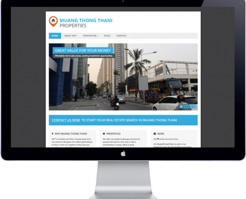 muang thong thani - website design