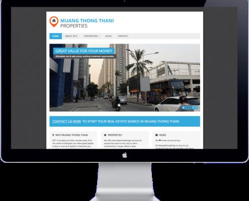 muang thong thani - website design