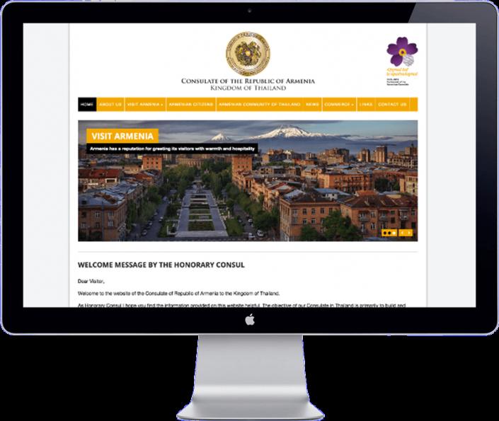 armenian consulate thailand website design