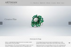 artinian fine jewelry website development