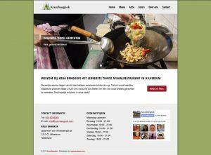 krua bangkok home page webdesign