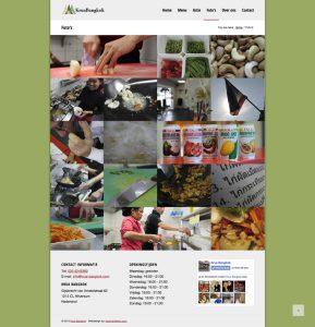krua bangkok images page web design