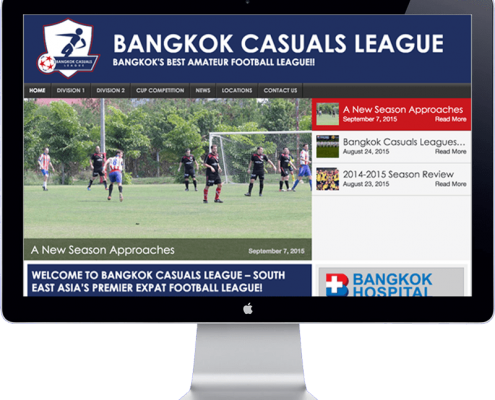 website design bangkok casuals football league