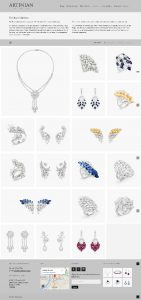 artinian website jewellery collection page