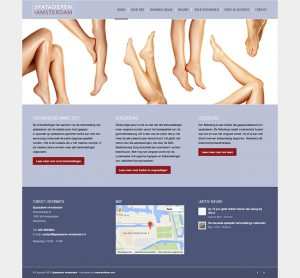 home page of the doctors website developed by koen van dieren