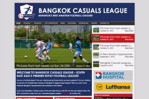 bangkok expat football league website development