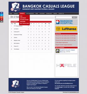 football league standings - bkk casual website