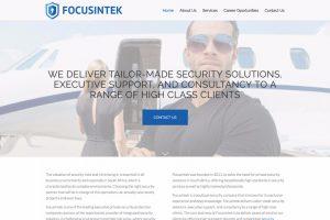 focusintek homepage - website development thailand