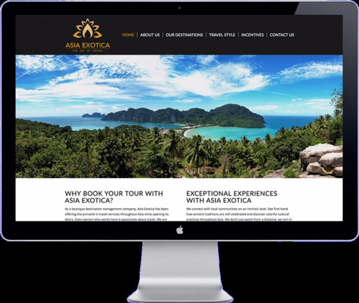 asia exotica - Thai travel organisation - website design