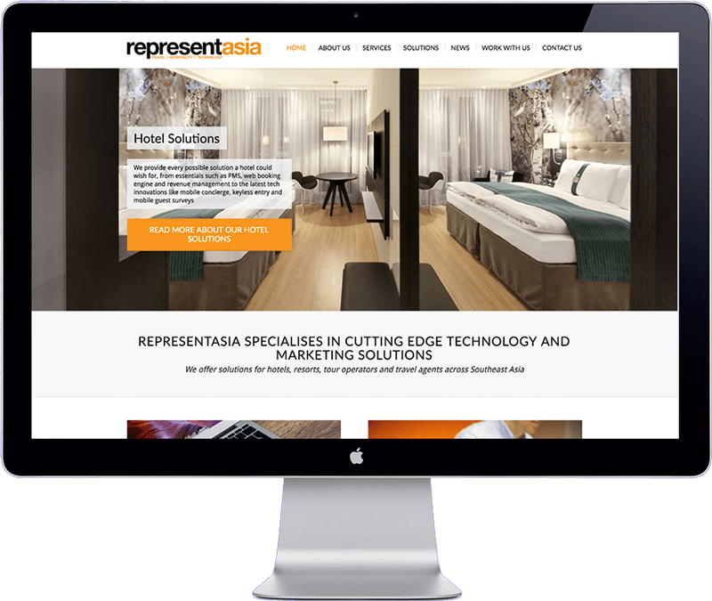 Represent Asia - home page webdesign