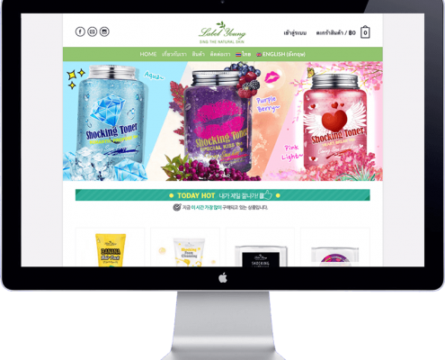 labelyoung thailand - website development
