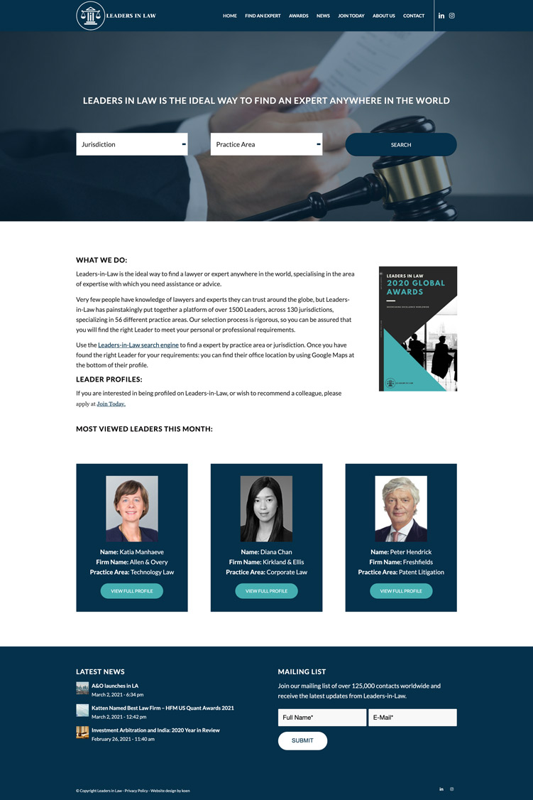 website lawyer directory
