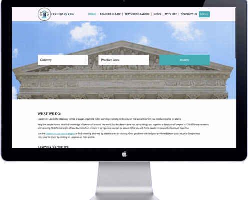 leaders in law - lawyer directory website development