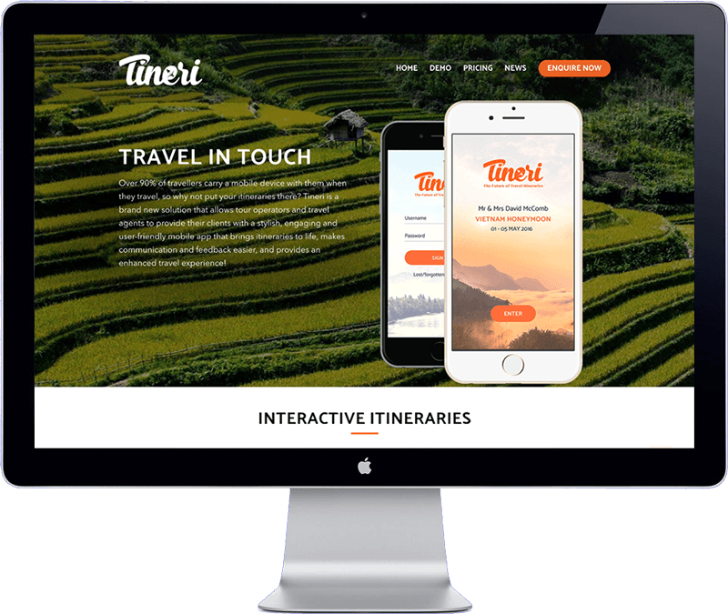 tineri app - website design south east asia
