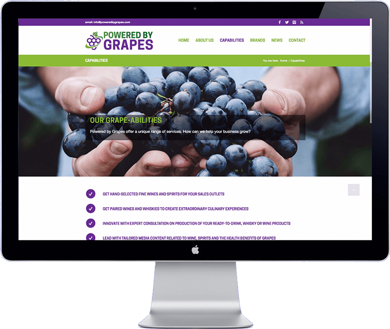 powered by grapes singapore - website development in thailand