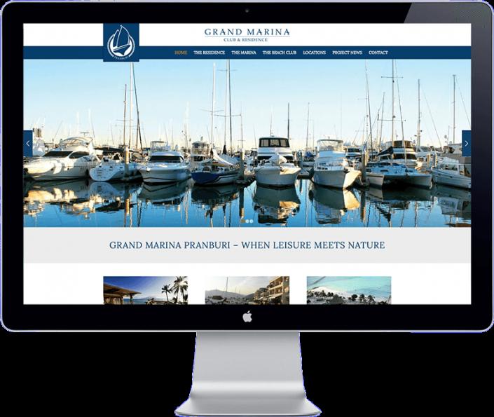 Grand Marin Pranburi - Hua Hin - Thailand website designer