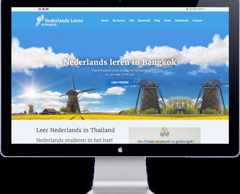 the website design of learning dutch in bangkok school