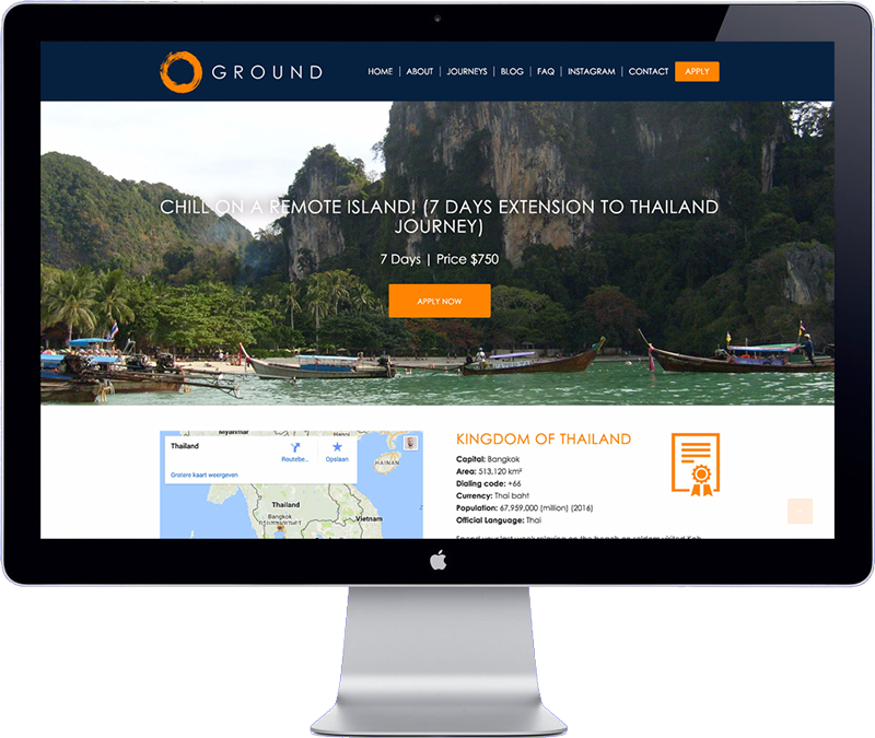 Groundrocks Asian Travel agency website development project