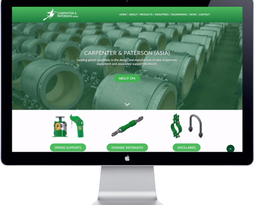 Carpenter and Paterson Asia website design