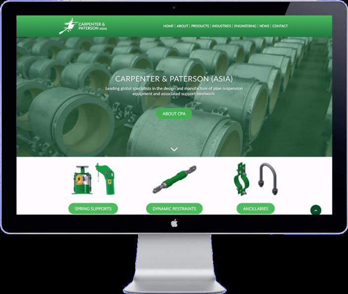 Carpenter and Paterson Asia website design