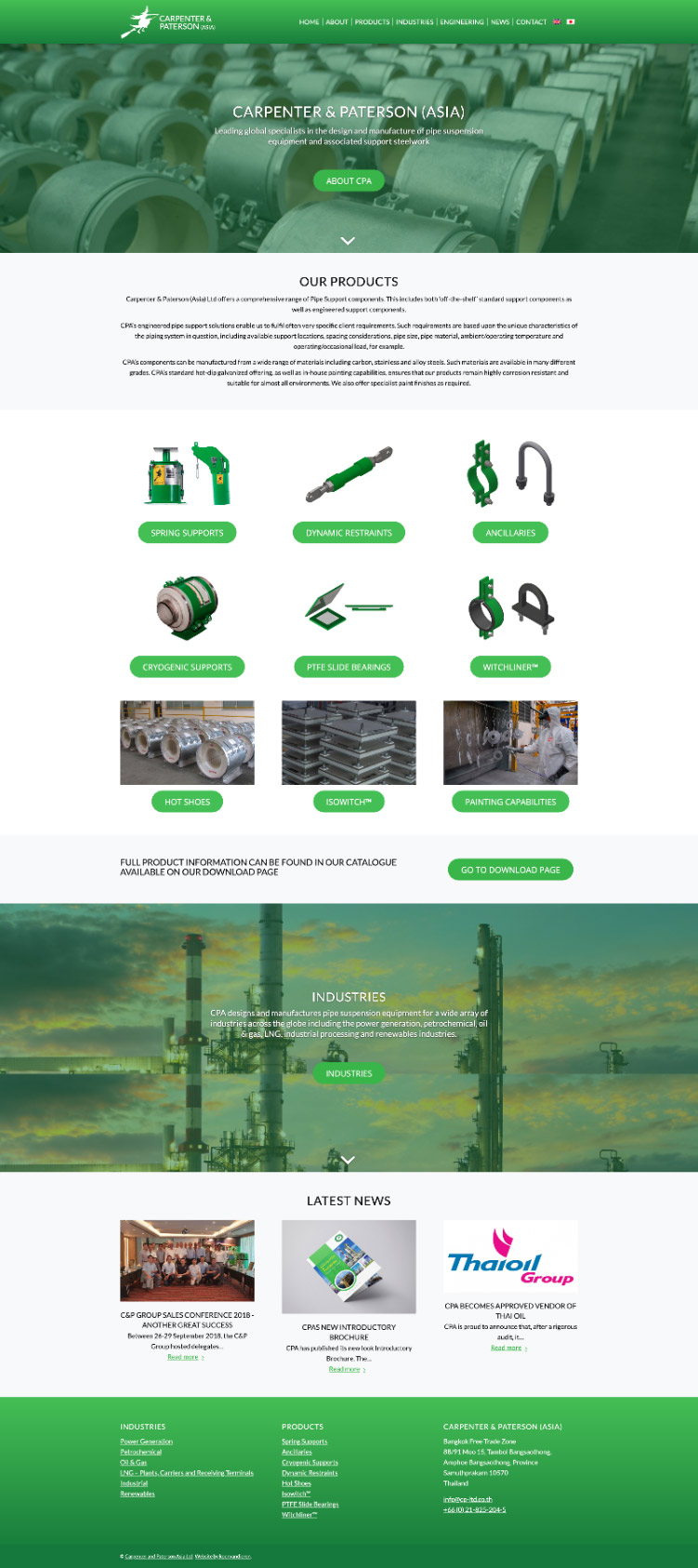 thailand factory website design