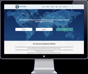 website design of advisory excellence