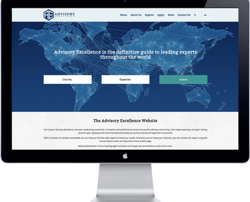 website design of advisory excellence