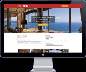 tpg tahiti - website design