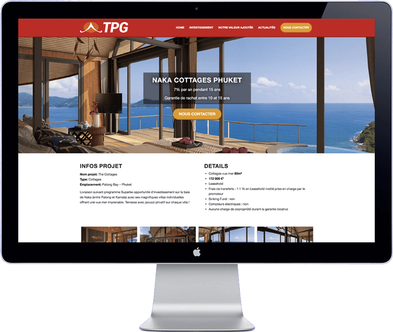 tpg tahiti - website design