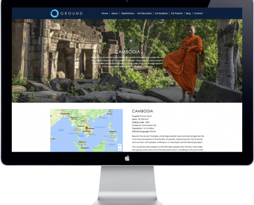 ground asia - website design travel organisation thailand