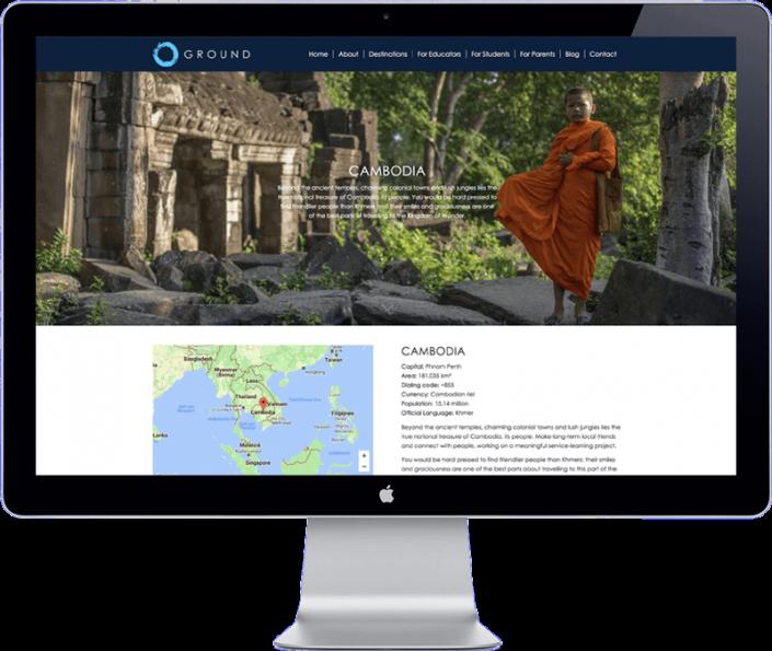 ground asia - website design travel organisation thailand