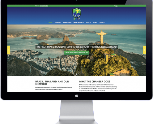 brazil thai chamber website design