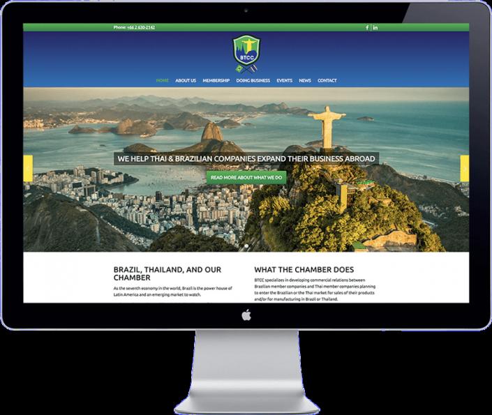 brazil thai chamber website design
