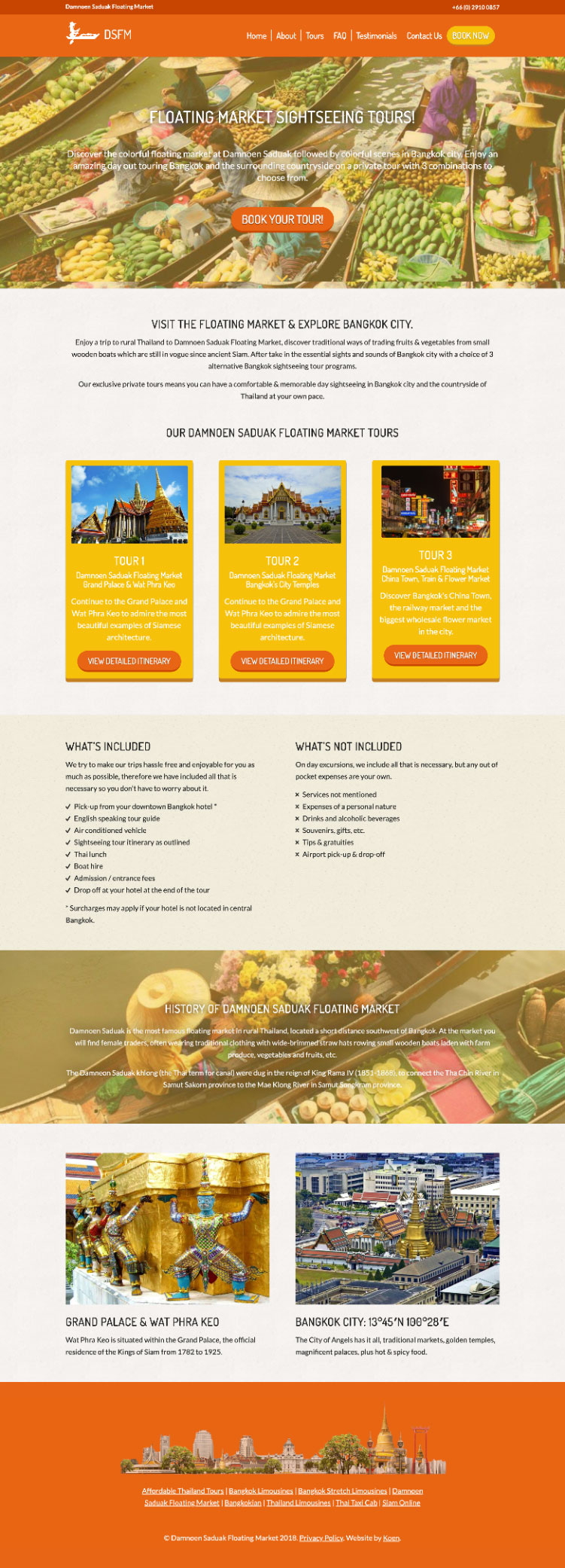 tour operator thailand website