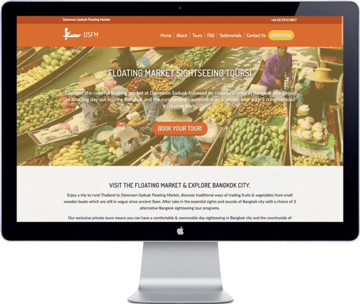 website design project - damnoen saduak floating market tours