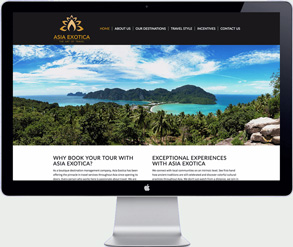 asia exotica - Thai travel organization - website design