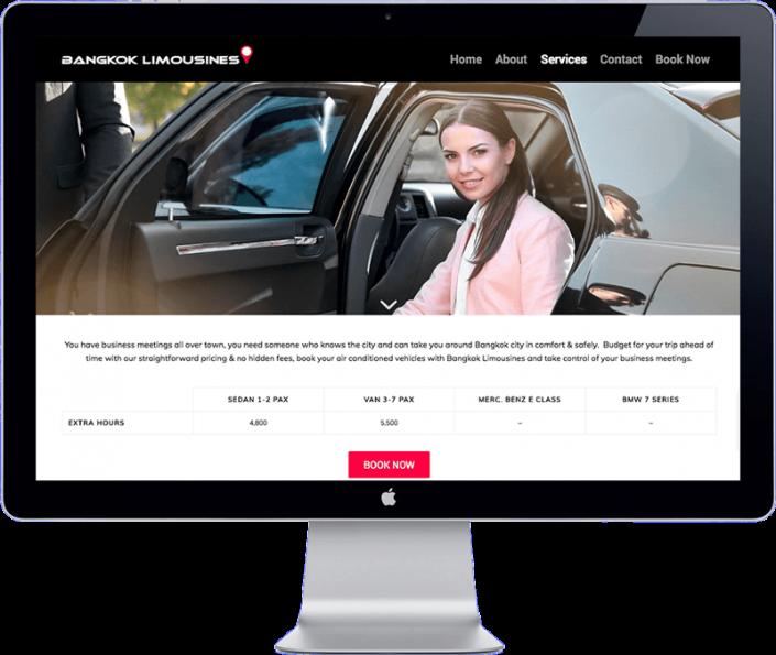 bangkok limousines - website development