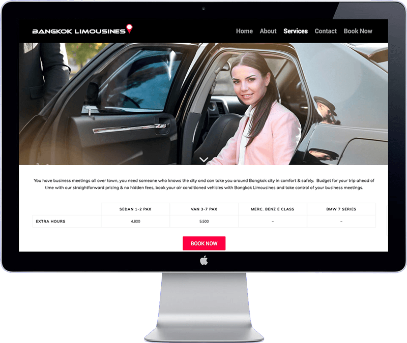 bangkok limousines - website development